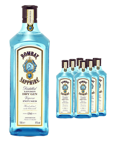 Image: Bombay Sapphire Gin (Case of 6 x 70 cl Bottles)