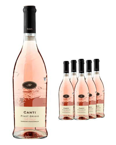 Image: Canti Pinot Grigio Rose (Case of 6 x 70 cl Bottles)