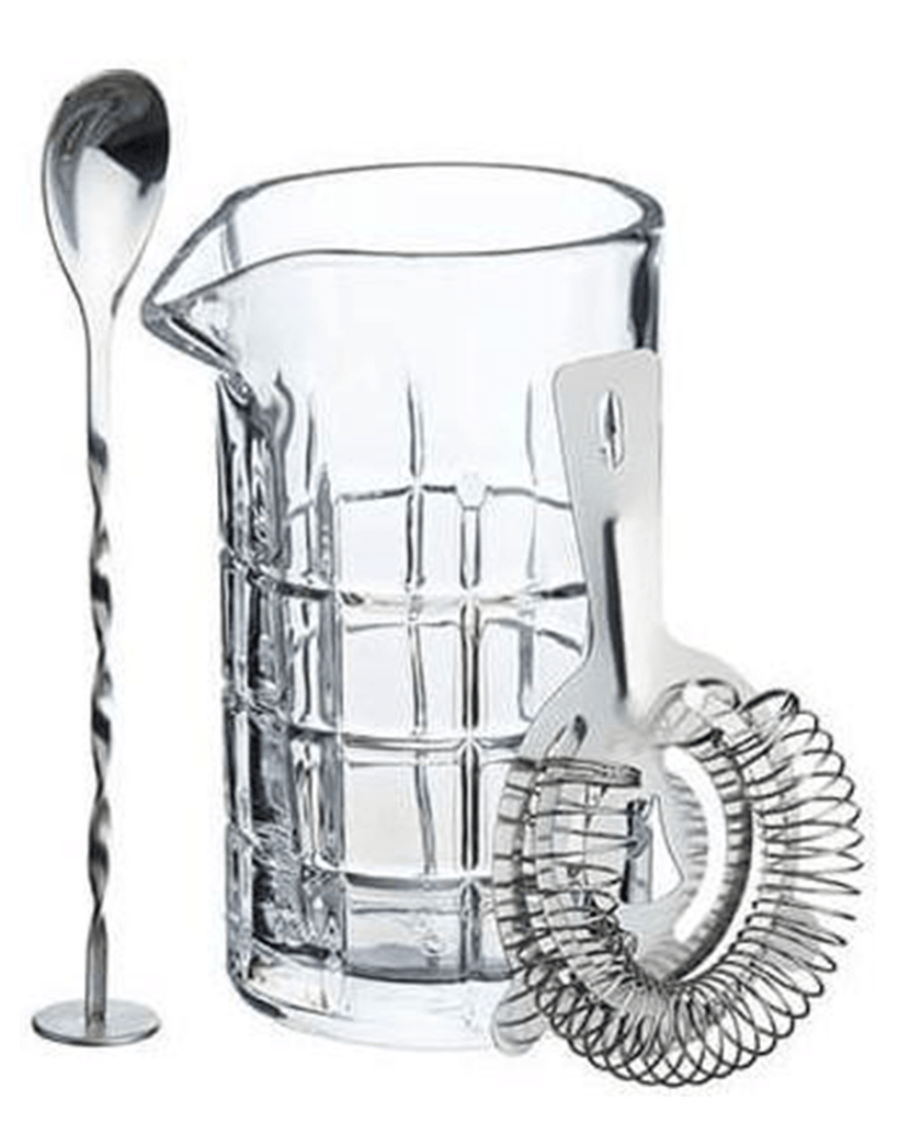 BarCraft Cocktail Mixing Glass And Strainer Set
