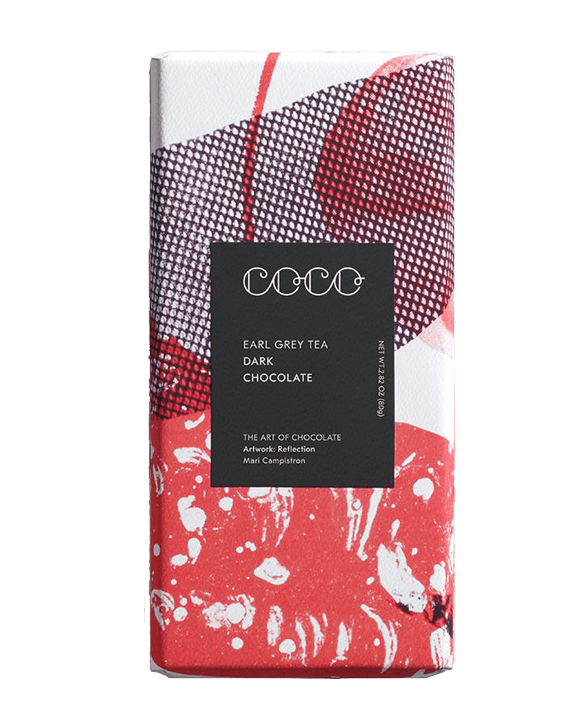 COCO Earl Grey Tea Chocolate Bar, 80g