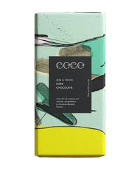 COCO Gin & Tonic Chocolate Bar, 80g