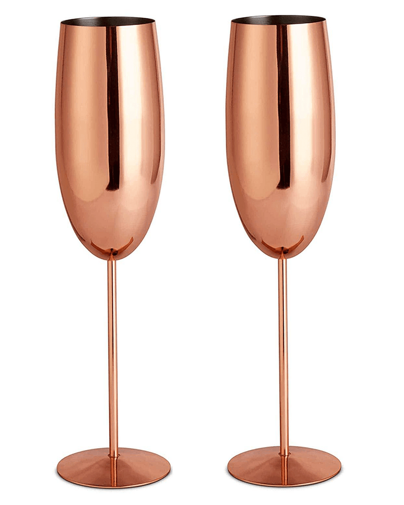 VonShef/Beautify Copper Champagne Flutes