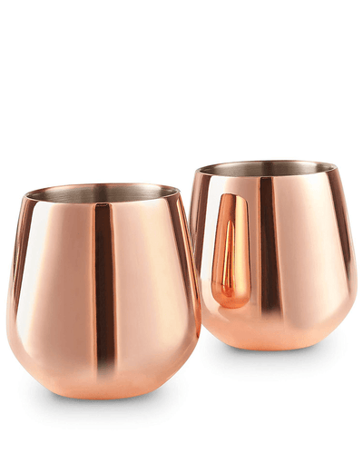 Shop VonShef Copper Stemless Glasses at The Bottle Club