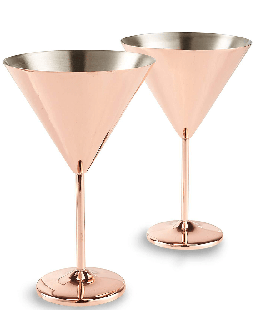 VonShef Copper Martini Glasses
