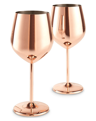 Shop VonShef Copper Wine Glasses at The Bottle Club