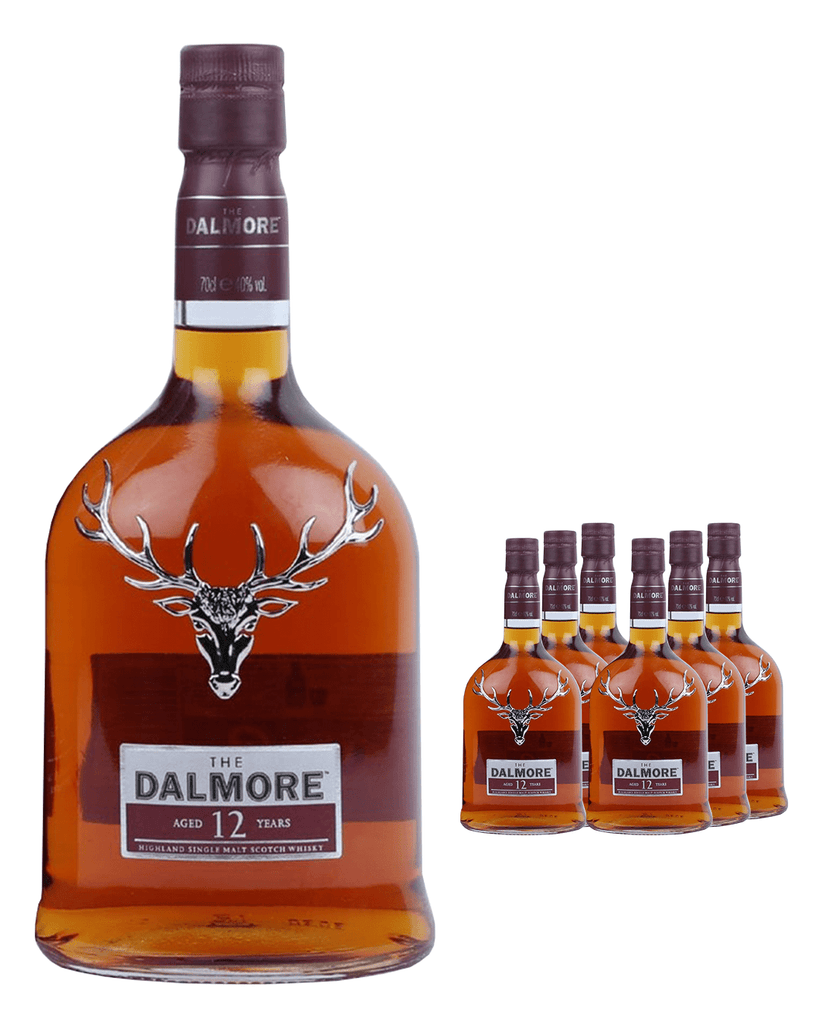 Dalmore 12 Year Old Whisky (Case of 6 x 70 cl Bottles)