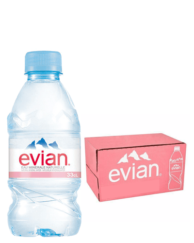 Image: Evian Plastic Bottle, 24 x 330 ml Multipack