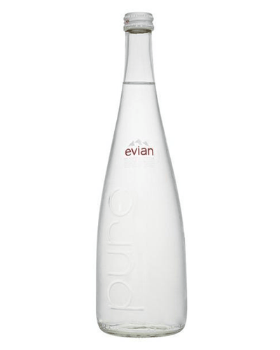 Image: Evian Glass Bottle, 12 x 750 ml Multipack