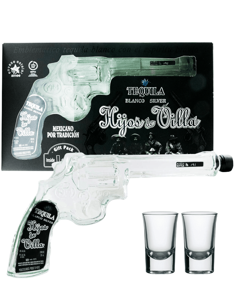 Hijos de Villa Blanco Pistol Gun & Shot Glass Miniature Gift Set, 20 cl
