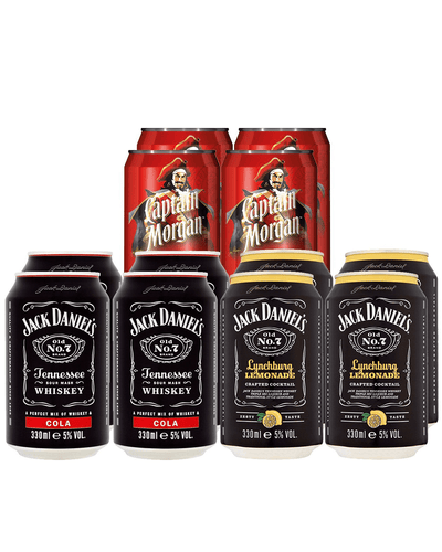 Image: Jack Daniel's & Captain Morgan Premixed Cocktail Party Pack