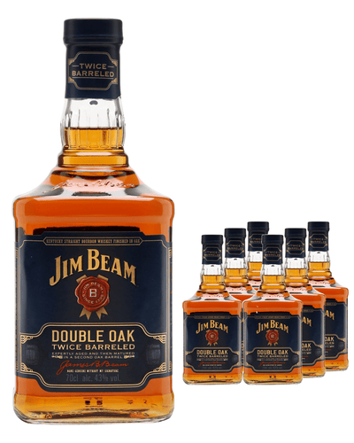 Image: Jim Beam Double Oak Bourbon (Case of 6 x 70 cl Bottles)