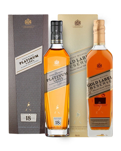 Shop Johnnie Walker Precious Metals Whisky Duo, 2 x 70 cl at The Bottle Club