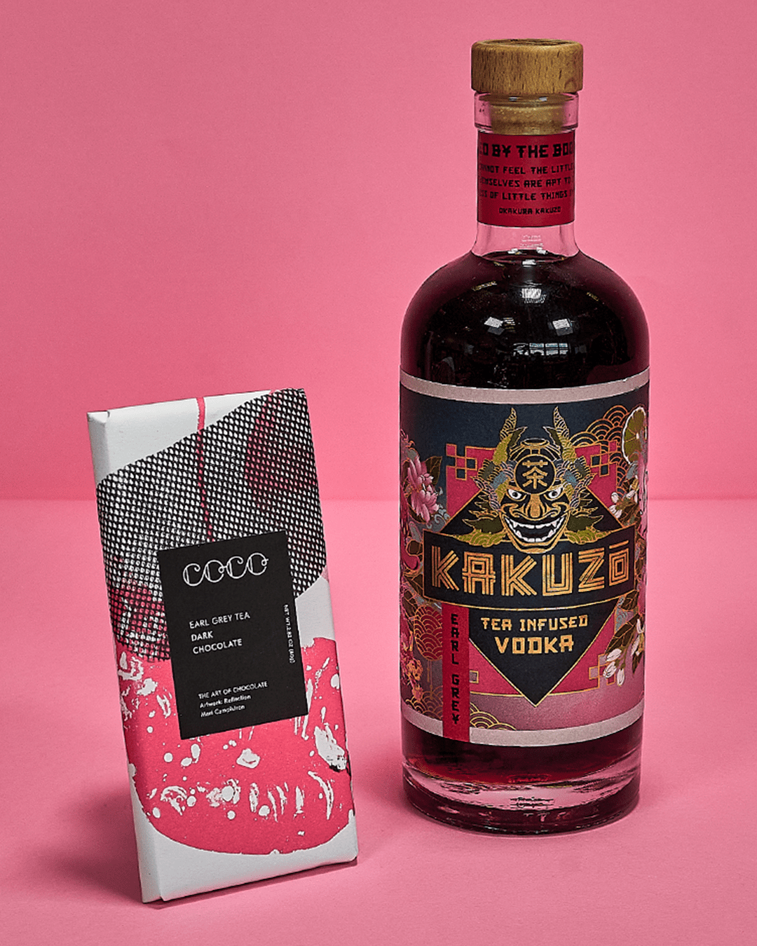 Kakuzo Tea Infused Vodka x COCO Earl Grey Tea Dark Chocolate Bar