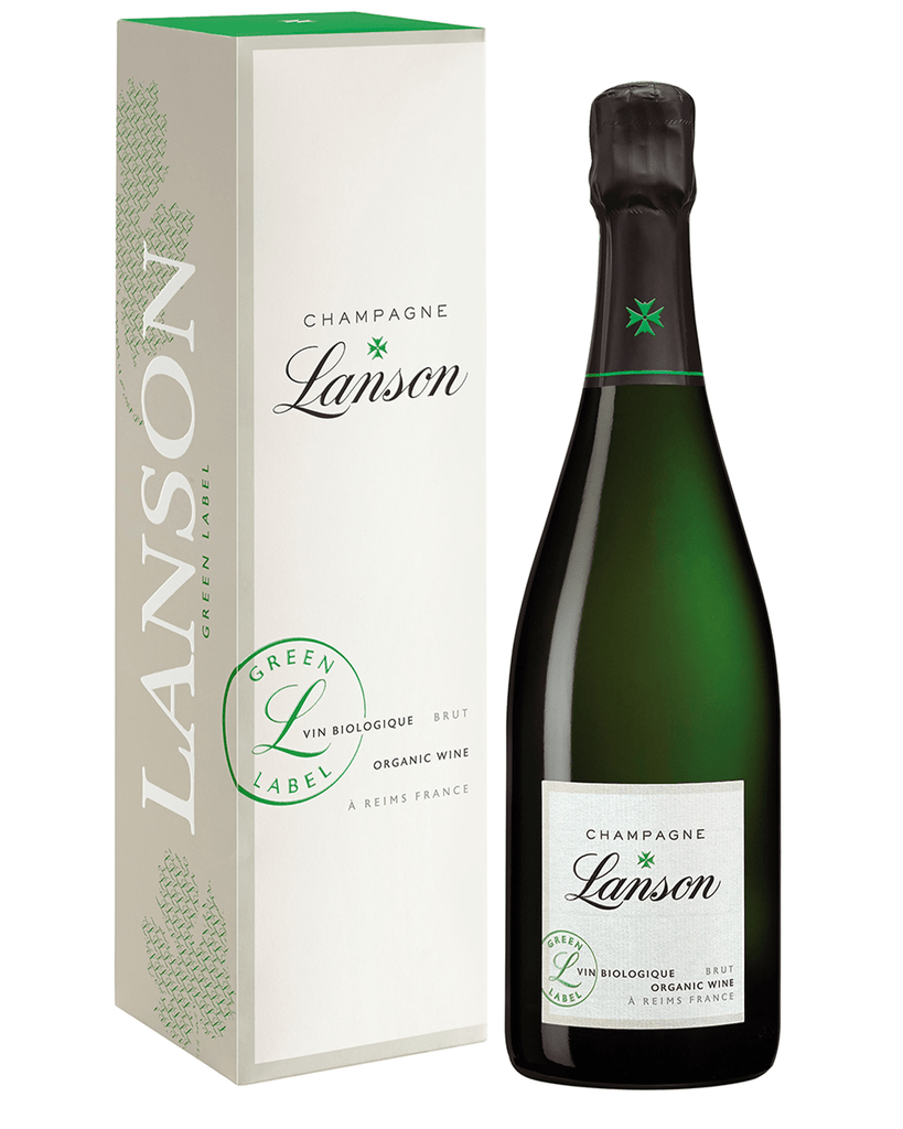 Lanson Organic Green Label Champagne Gift Box, 75 cl