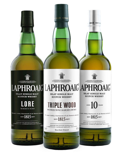 Shop Laphroaig Whisky Trio, 3 x 70cl at The Bottle Club