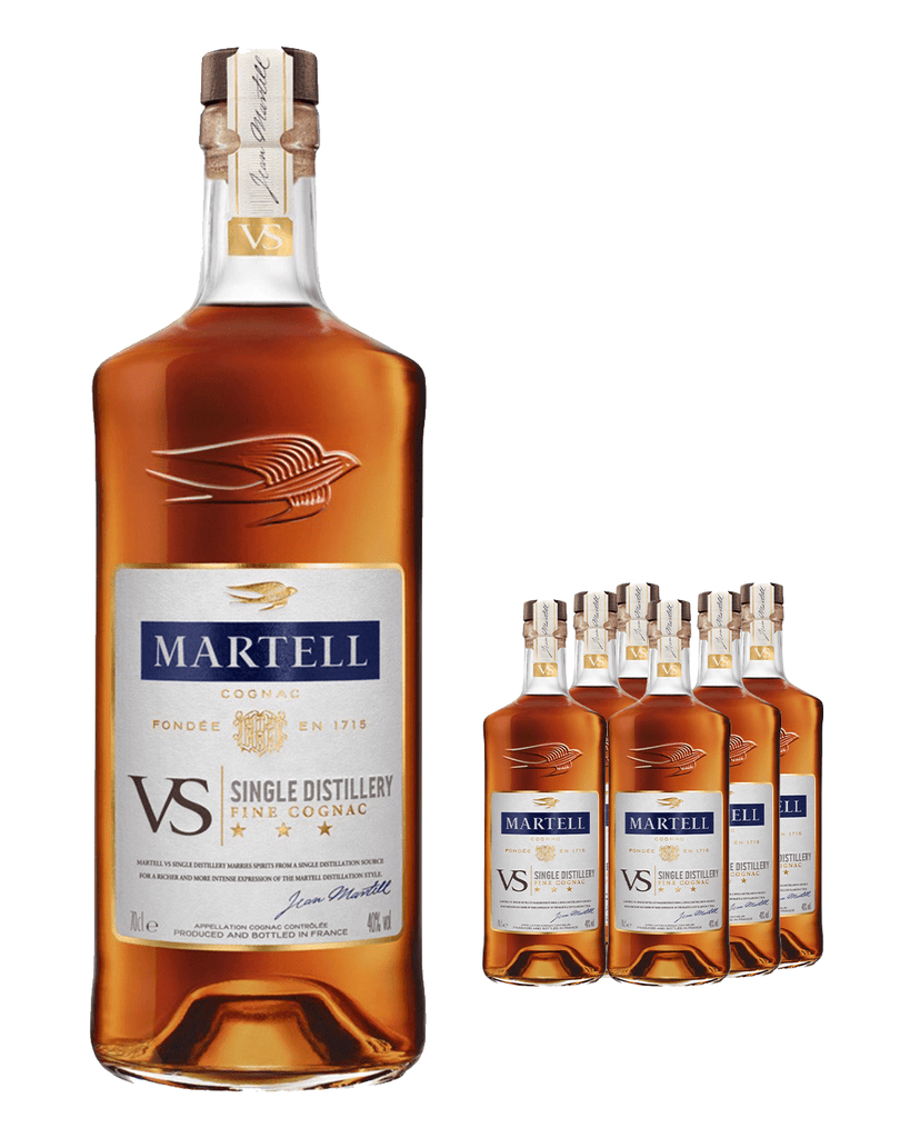 Martell VS Cognac (Case of 6 x 70 cl Bottles)