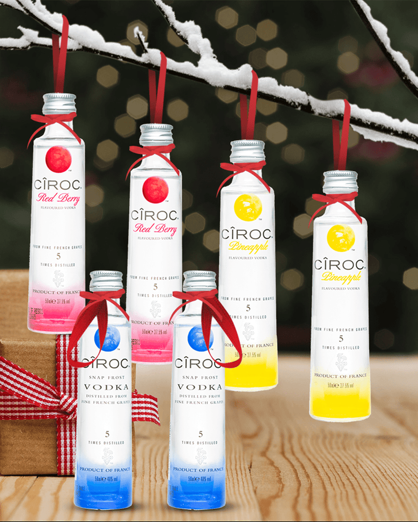 PRE-ORDER Merry Baubles - Mixed Ciroc Vodka Miniature Set