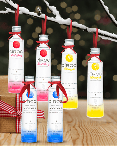 Image: Merry Baubles - Mixed Ciroc Vodka Miniature Set