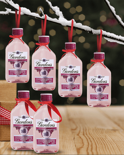 Image: Merry Baubles - Gordon's Pink Gin Miniature Set
