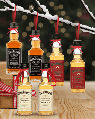 Image: PRE-ORDER Merry Baubles - Mixed Jack Daniel's Whiskey Miniature Set