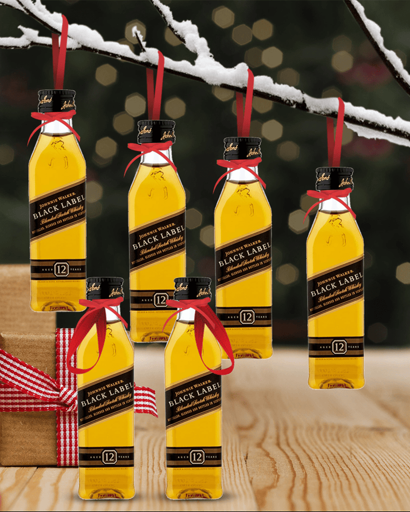 PRE-ORDER Merry Baubles - Johnnie Walker Black Whisky Miniature Set