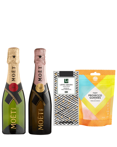 Image: Mini Moët & Chandon Impérial Brut & Rose Champagne Gift Set