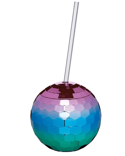 Image: BarCraft Rainbow Disco Drinks Jar With Straw