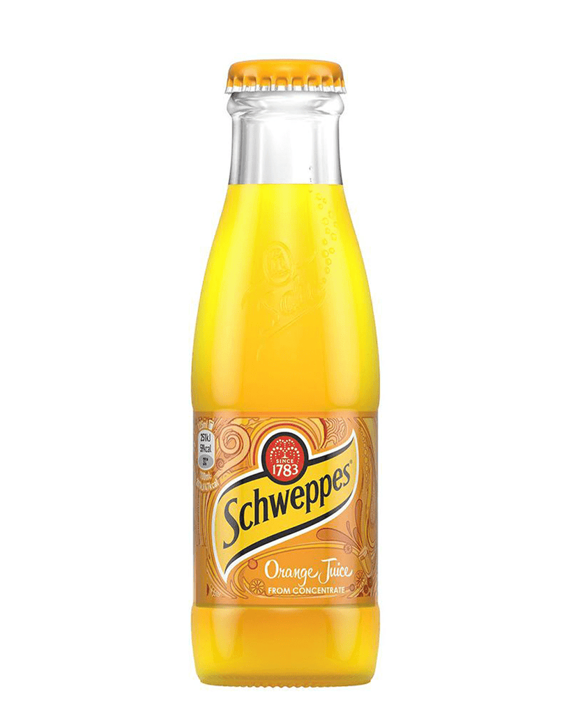Schweppes Orange Juice, 24 x 200 ml Multipack