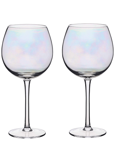 Image: BarCraft Set of Two Iridescent Gin Glasses
