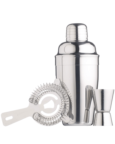 Image: BarCraft Stainless Steel Three Piece Cocktail Gift Set