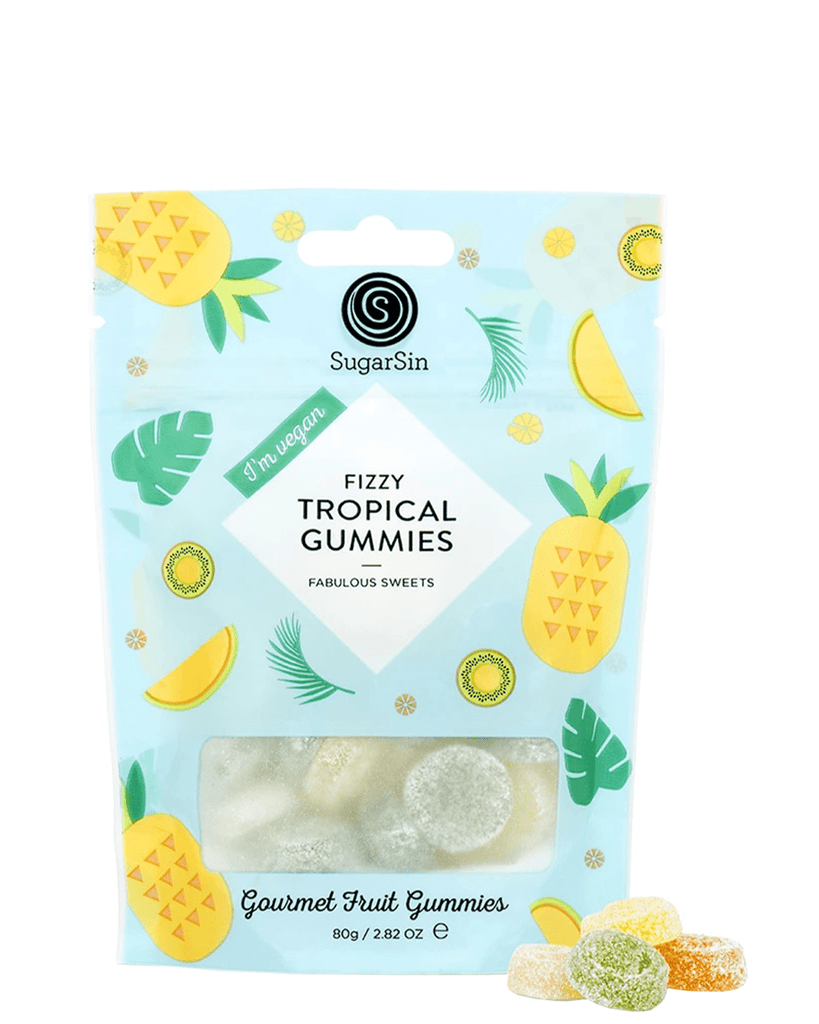 Fizzy Tropical Gummies, 100 g