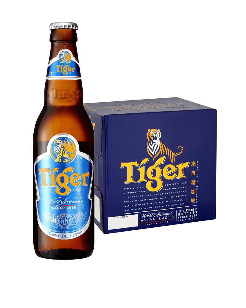 Tiger Premium Lager Beer, 12 x 330 ml