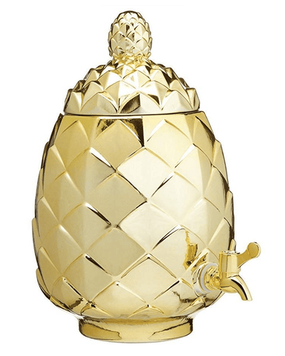 Image: BarCraft Tropical Chic Glass Pineapple Drinks Dispenser, 6 L