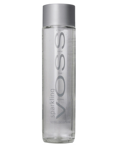 Image: Voss Sparkling Water Glass Bottle, 375 ml