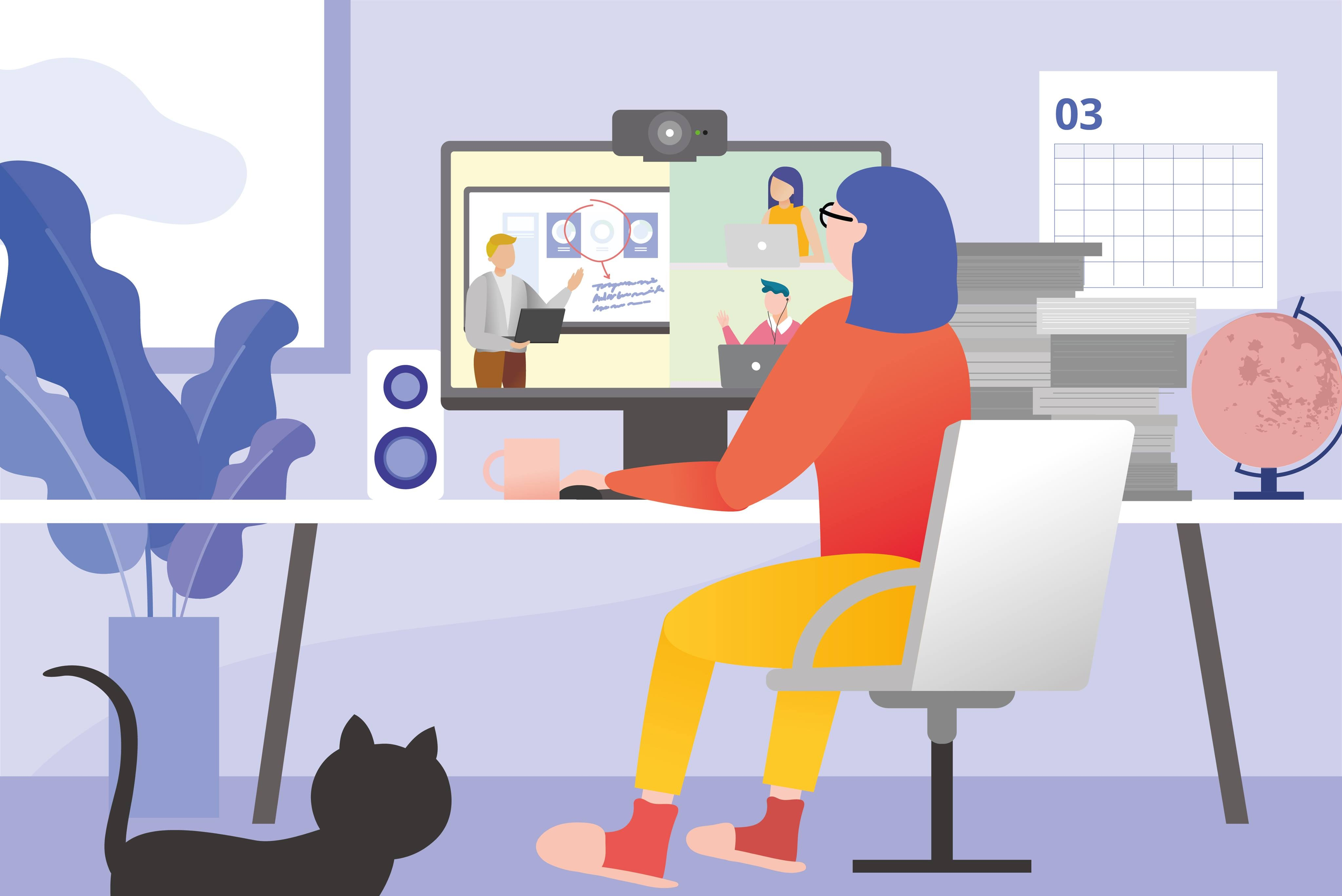 16 Tips for Healthy and Productive Remote Working - Infographic