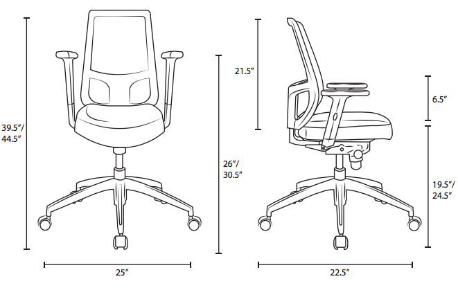 growrk desk chair