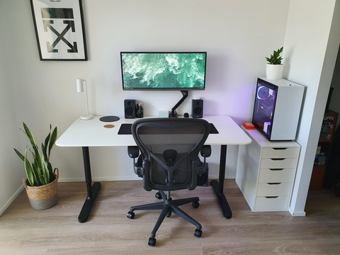home office for remote work