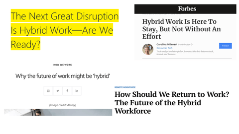 hybrid work is not the future