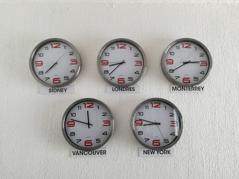 time zone differences