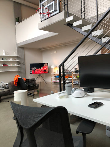 sporty home office