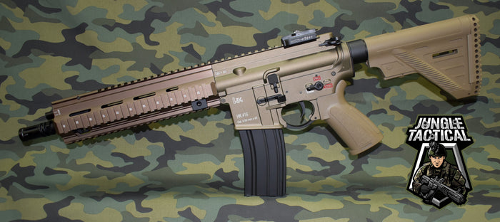 All Metal HK 416 A5 Gel Blaster Tan