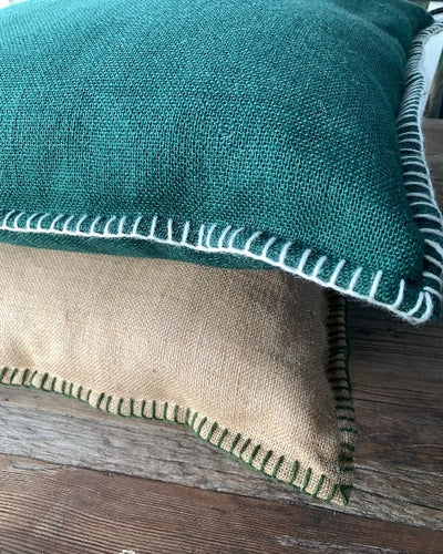 Hessian Picnic Cushion