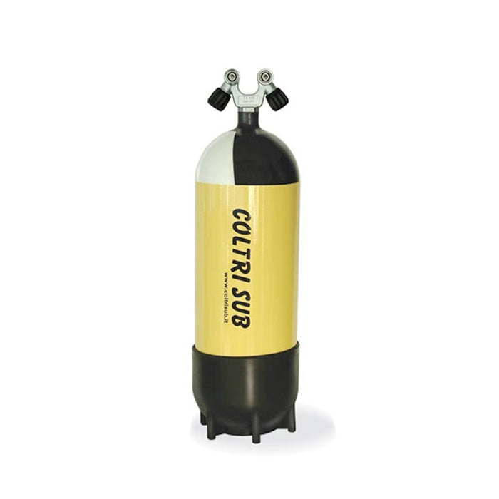 Coltri 15 Litre Scuba Tank - 232 Bar Twin On/Off Valve