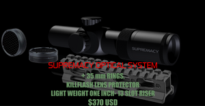 "Supremacy Optical System/Rings, Killflash, 1"" Riser"