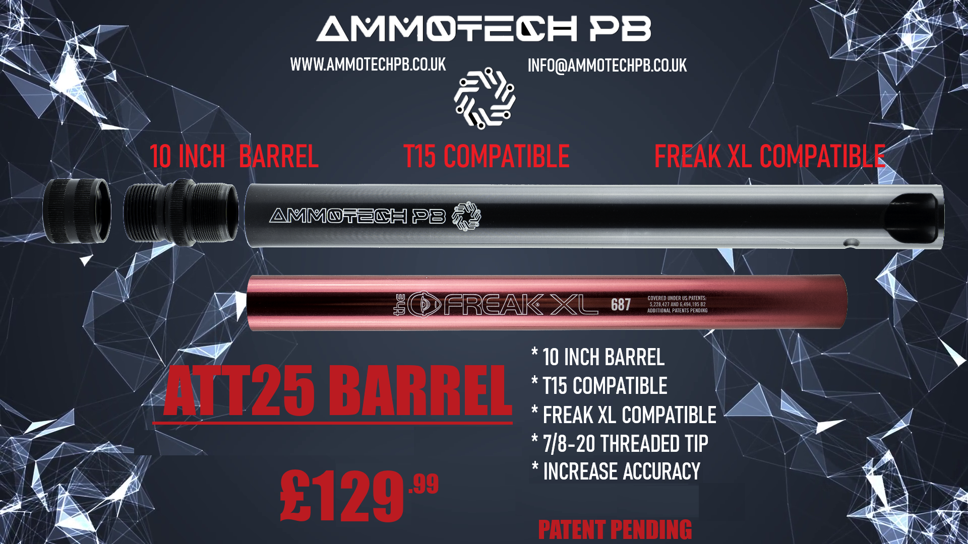 Ammotech ATT25 BARREL FOR THE T15