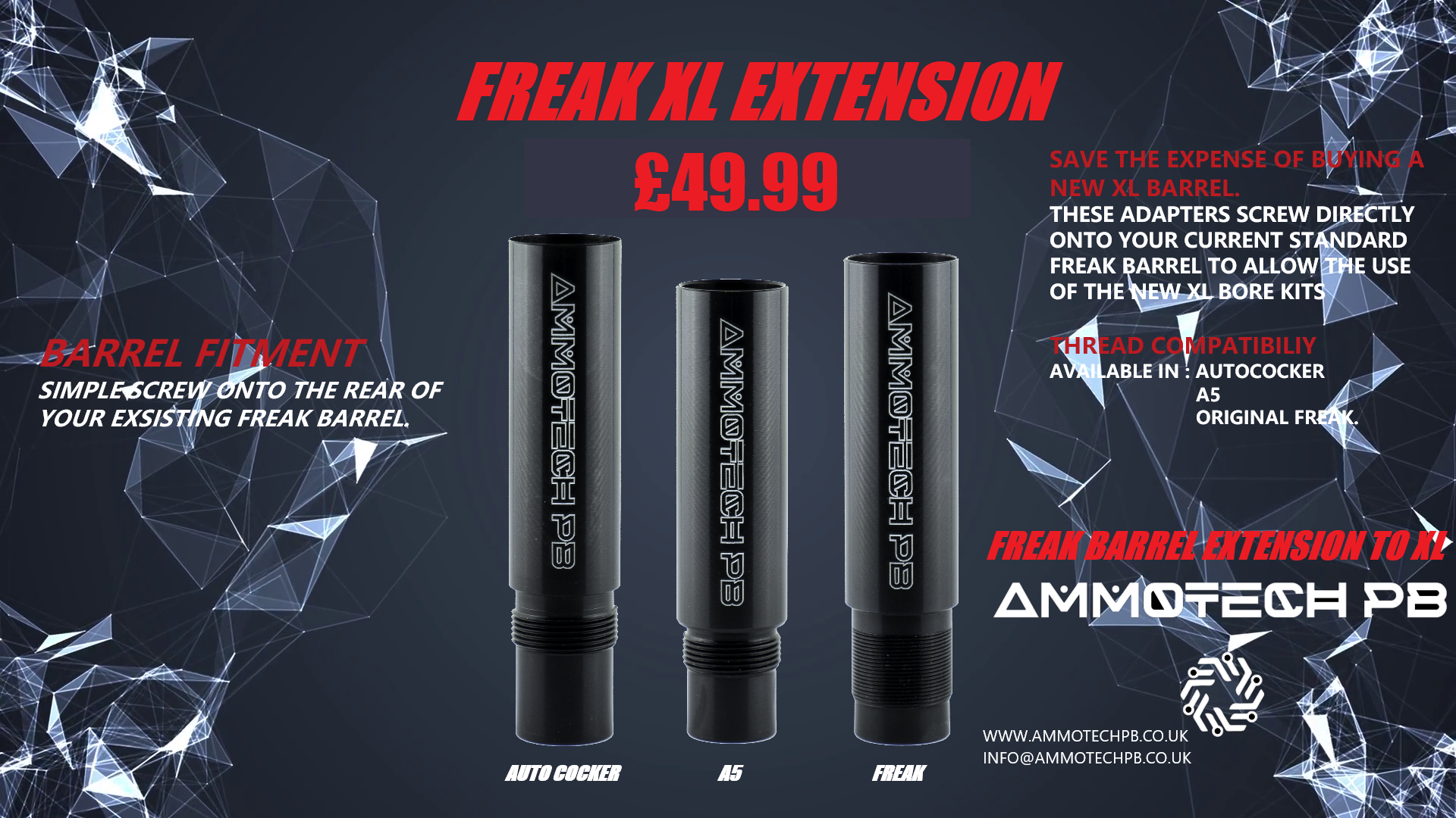 Ammotech Freak to Freak XL BARREL EXTENSION