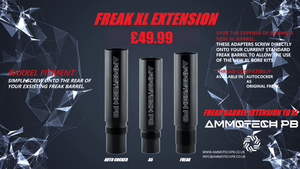 Ammotech Freak to Freak XL BARREL EXTENSION Autococker