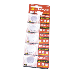 Lithium 3V CR1620 Batteries - 5 Pack