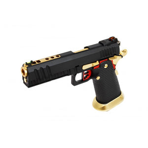 Armorer Works Custom Hi Capa GBB Pistol (Full Black Slide / Black Frame / Gold Barrel)