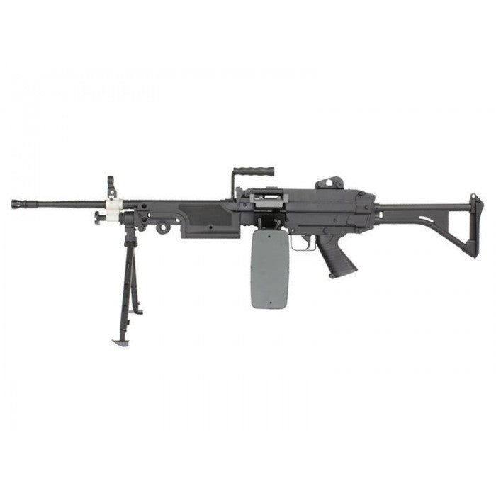 FN Herstal Minimi M249 MK1 with Sound Control Drum Magazine And Skeleton Stock
